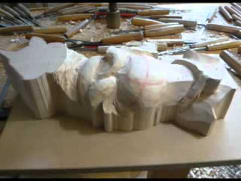 WOODCARVING  Patrick Damiaens Heraldic Woodcarving _ Family Coat of Arms in Wood - YouTube