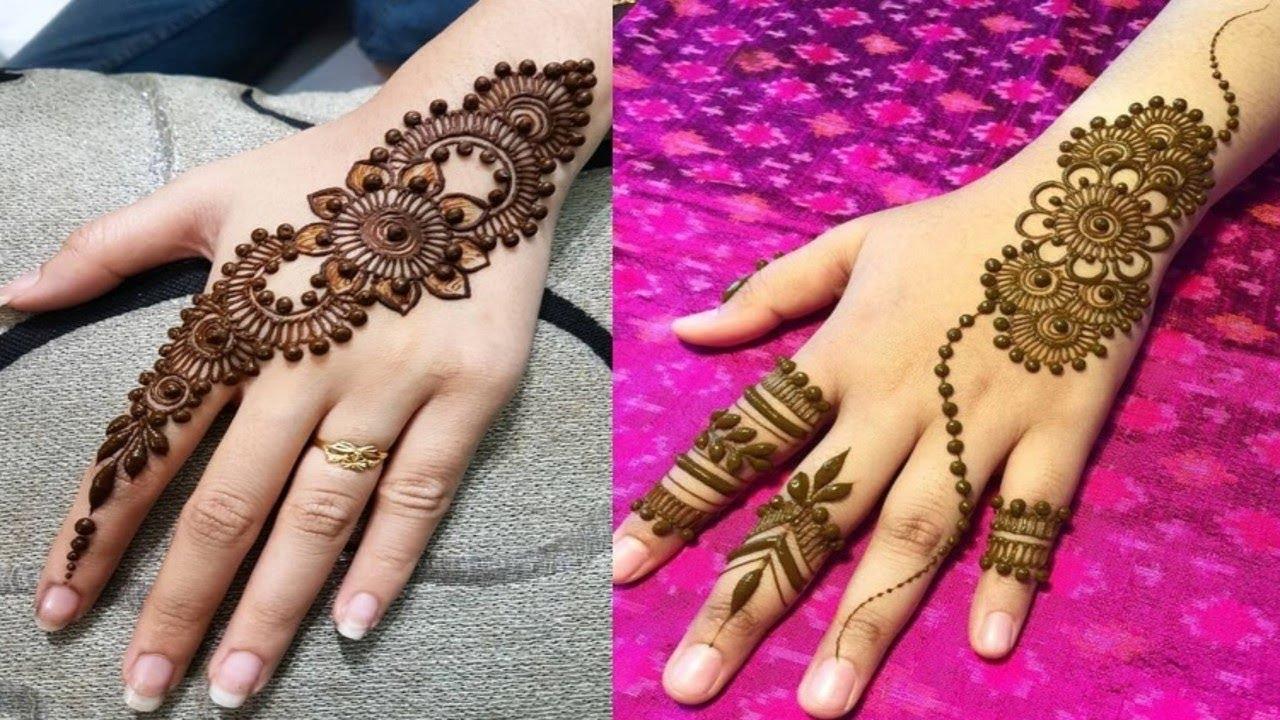 Modern Henna Designs: Modern & Latest Henna Mehndi Design For Navratri
