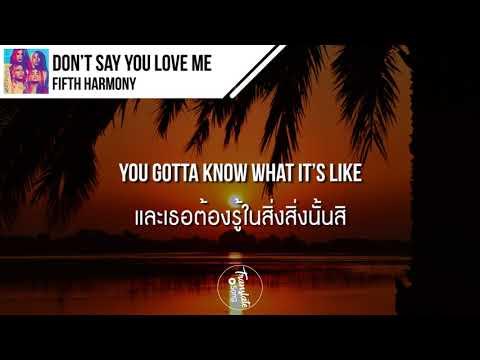 แปลเพลง Don't Say You Love Me - Fifth Harmony