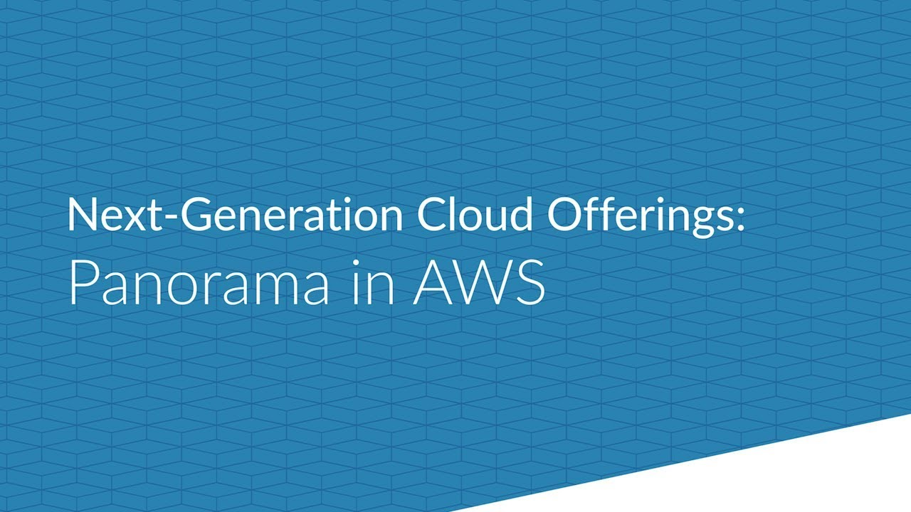New Cloud Offerings: Panorama in AWS