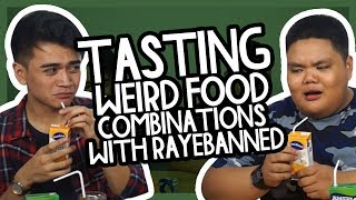 TASTING WEIRD FOOD COMBINATIONS with RAYEBANNED // Luigi Pacheco
