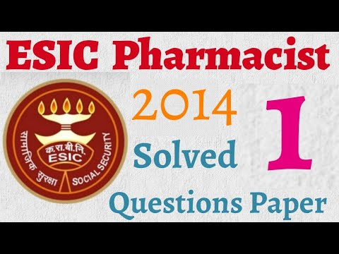ESIC Pharmacist Exam Solved Questions Paper 2014   MCQ Part - 1