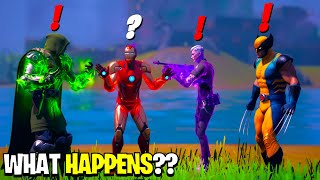What Happens if ALL 4 Bosses Meet in Fortnite! | Boss Midas Meets Iron Man, Wolverine & Dr Doom!