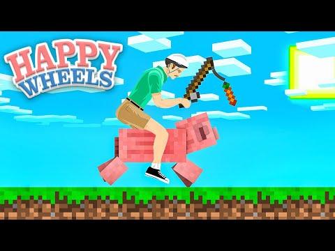 Happy Wheels Meets Minecraft!