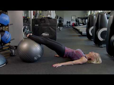 How to do a Stability Ball Roll In