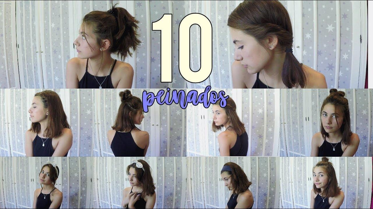 10 Peinados Faciles Y Muy Rapidos Para Pelo Corto