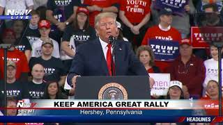 TRUMP ON IMPEACHMENT: Rally in PA same day democrats announce 2 charges