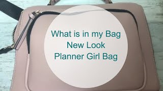Whats in my Bag - The New Look Planner Girl Bag