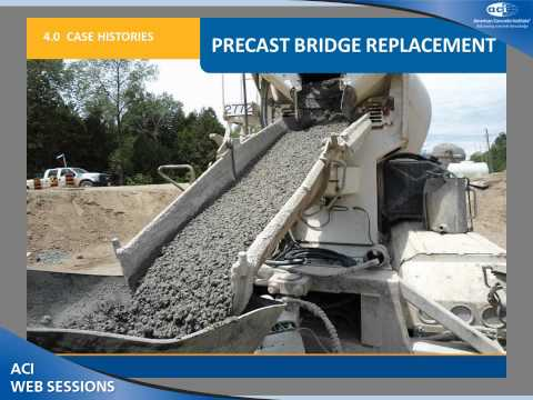 Pre-Packaged High-Performance Concrete Used for Bridge Replacement