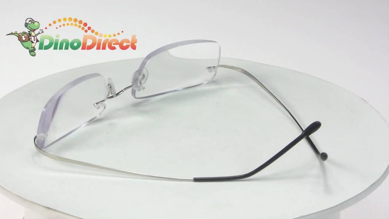 Titanium Rimless Reading Glasses from Dinodirect.com - YouTube