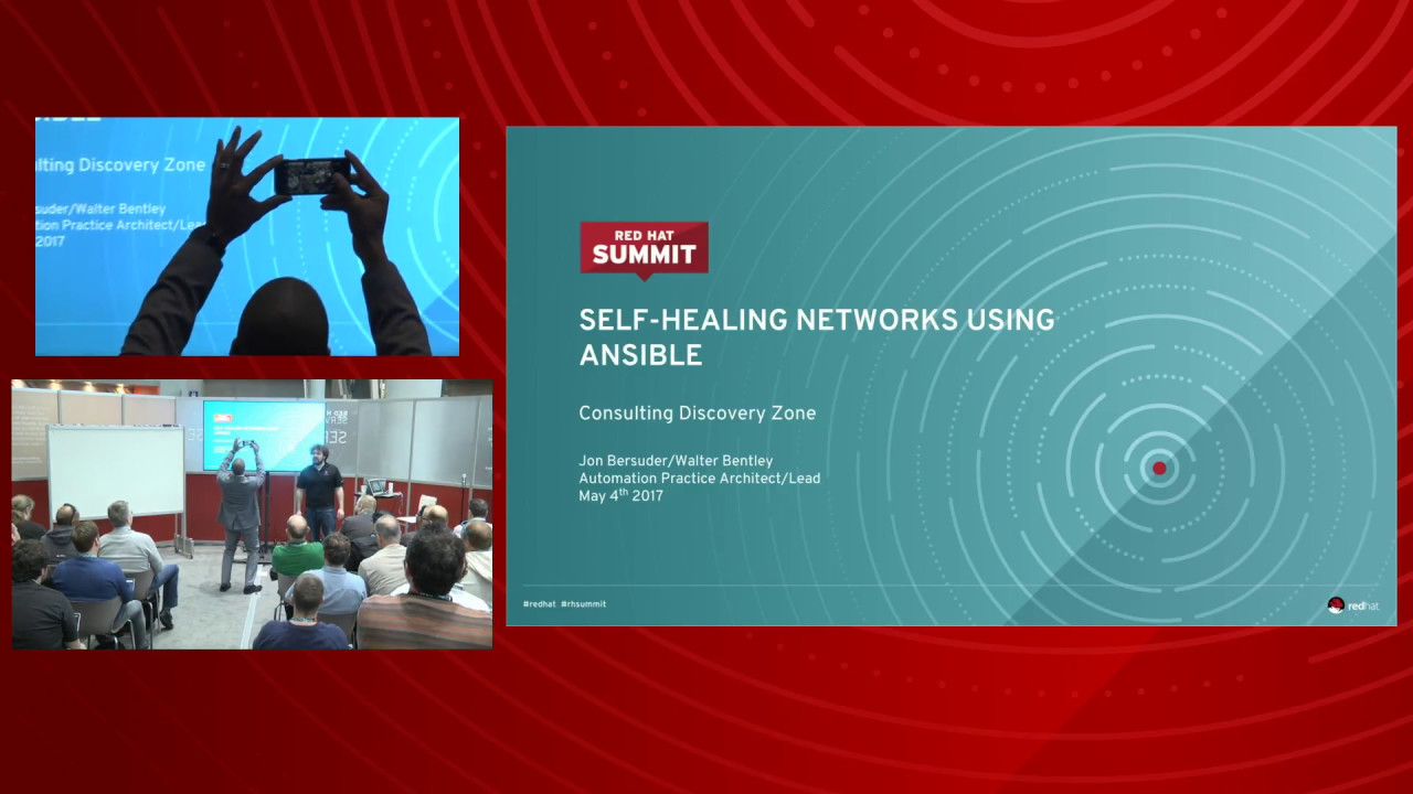 Self-healing networks using ansible