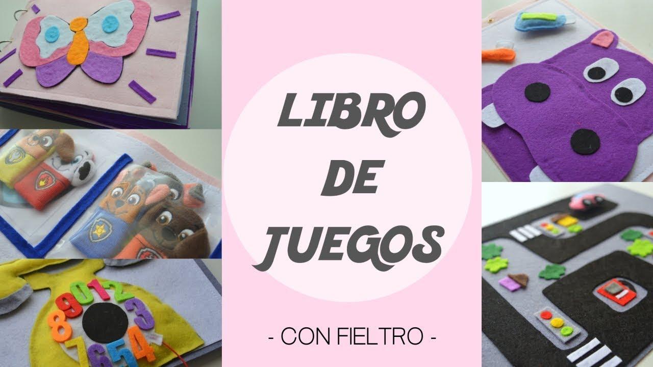 DIY: LIBRO DE JUEGOS PARA NIÑOS HECHO DE FIELTRO. Plantillas ...