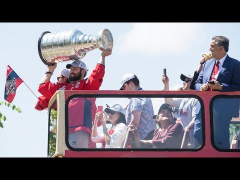 Alex Ovechkin has a ball at the Capitals Championship Parade