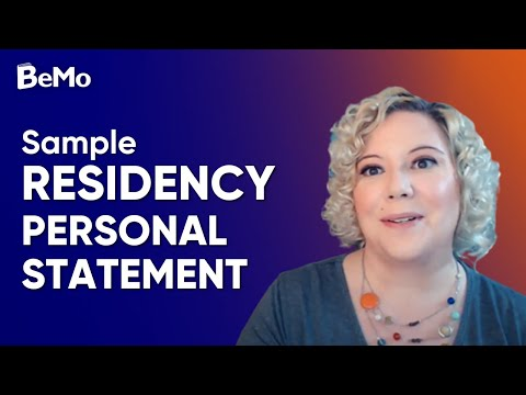 Sample Residency Personal Statement | BeMo Academic Consulting
