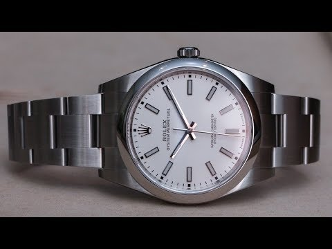 e51d6837871 Rolex OP Baselworld 2018 white dial 114300 - YouTube