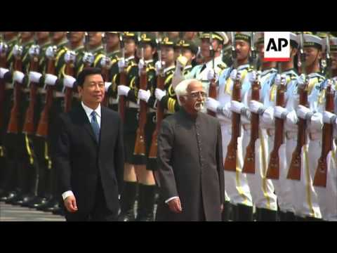 Welcoming ceremony for Indian Vice President Hamid Ansari