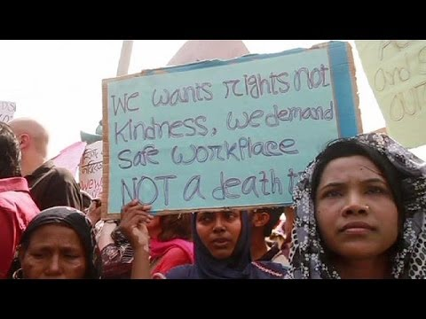 Protest held to mark first anniversary of Rana Plaza factory disaster