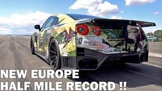 1800HP Nissan GT-R R35 AMS Alpha 18 Half Mile @ 342km/h NEW RECORD!