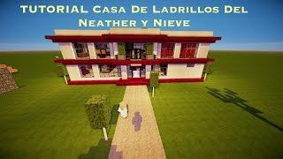 TUTORIAL: CASA MODERNA DE NIEVE Y LADRILLOS DEL NETHER (PT4)