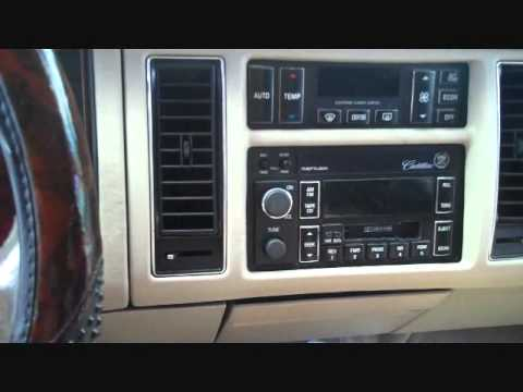 hqdefault cadillac fleetwood car stereo removal 1993 1996 youtube  at creativeand.co