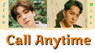 Jinu ft. Mino - Call anytime || LYRICS MUSIC + SUB INDO [OFFICIAL GGTV]