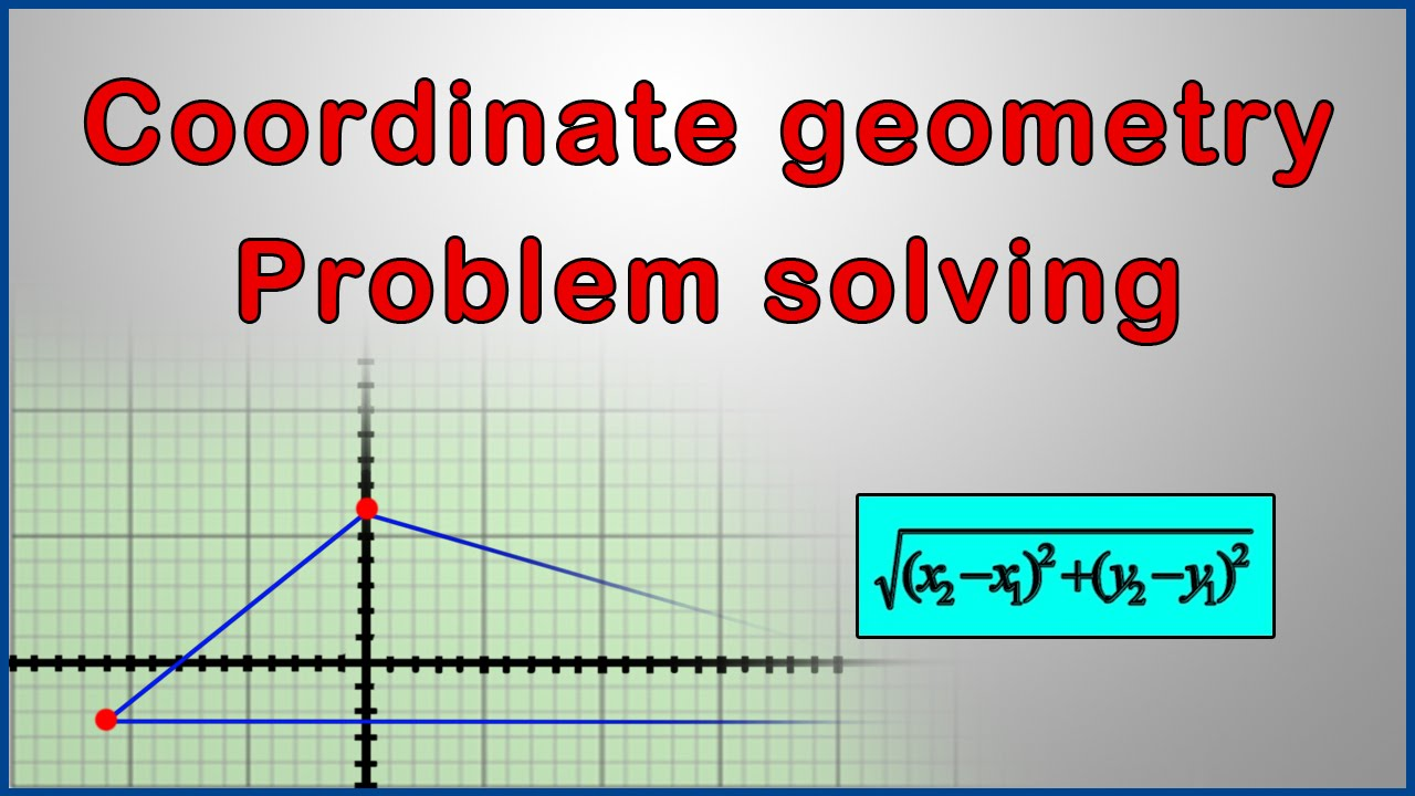 how to solve coordinate geometry problems