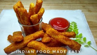 Aloo Sticks Recipe in Hindi by Indian Food Made Easy, Aalu Chips Recipe in Hindi