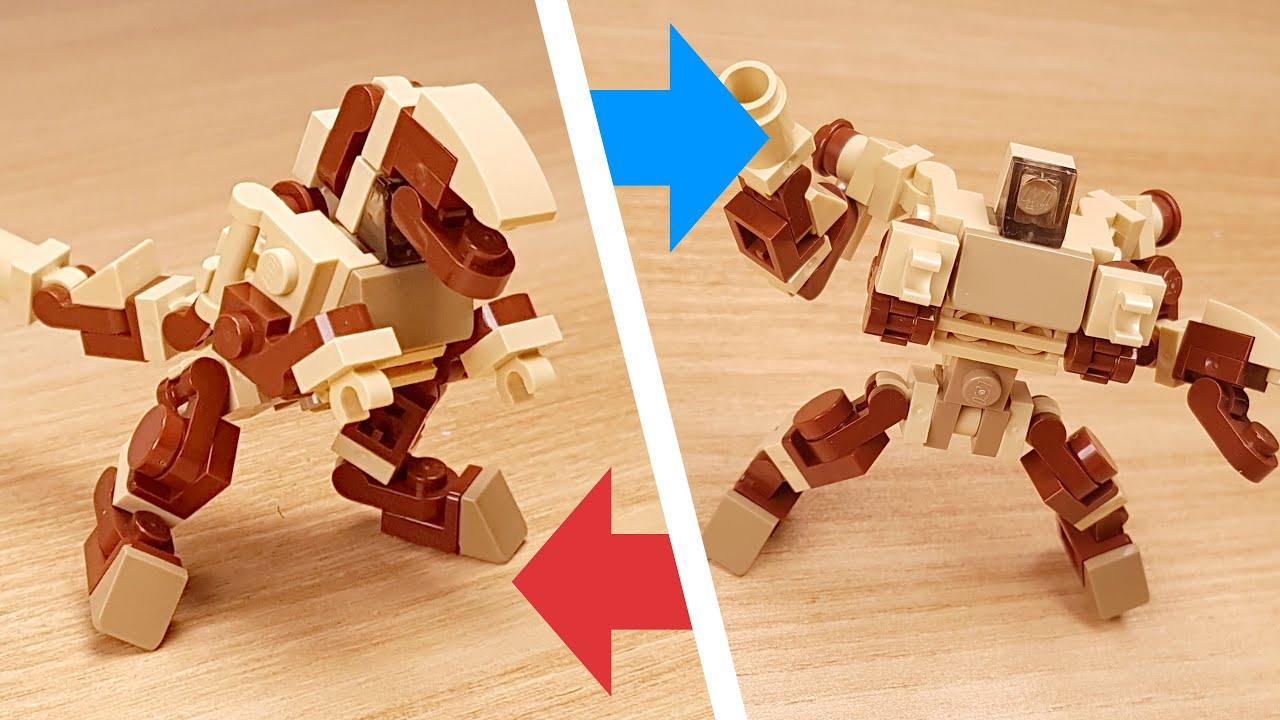[LEGO Mini Robot Tutorial] Dinosaur Transformer Mech - Dinosaur T (similar to  Beast Wars Megatron)