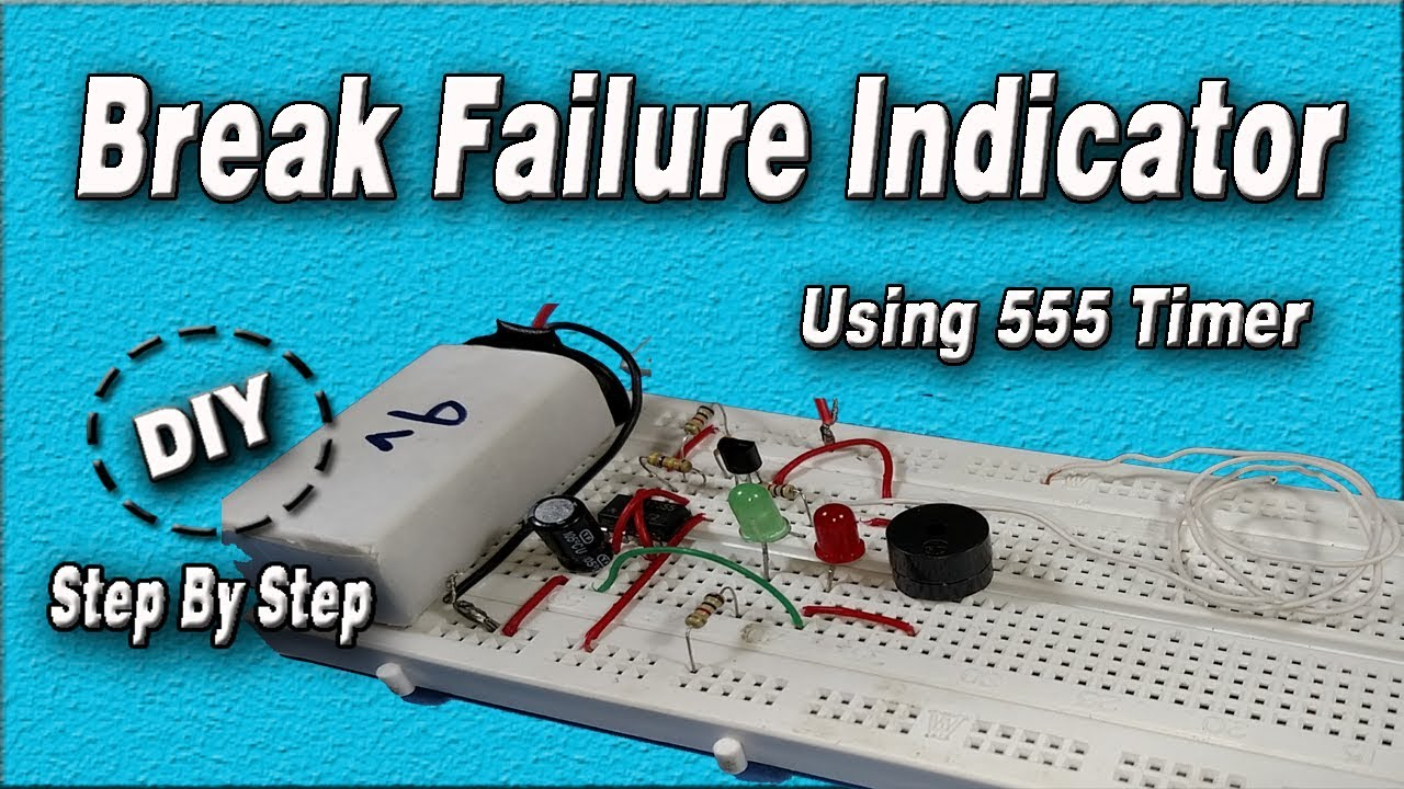 Brake Failure Indicator Using 555 Timer Diy Electronics Projects Circuit Diagrams Image How To