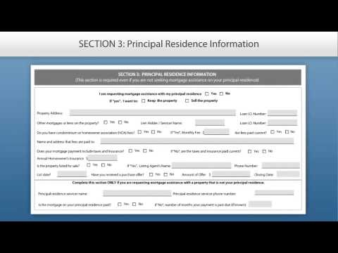 Request for Mortgage Assistance Form Tutorial -- English - YouTube