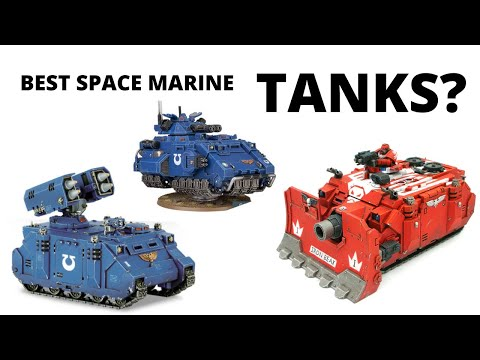 Best Space Marine Tanks? Review of Heavy Support Vehicles for the Astartes…