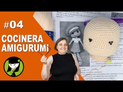 MUÑECA AMIGURUMI COCINERA 04 cocinero a crochet