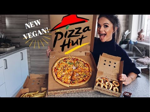 TASTING NEW PIZZA HUT VEGAN CHEESE PIZZA!