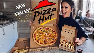 TASTING NEW PIZZA HUT VEGAN CHEESE PIZZA!