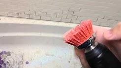 How to remove dried grout or mortar from tile.