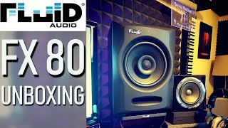 FLUID AUDIO FX80 Coaxial Studio Monitors (Unboxing) 2020