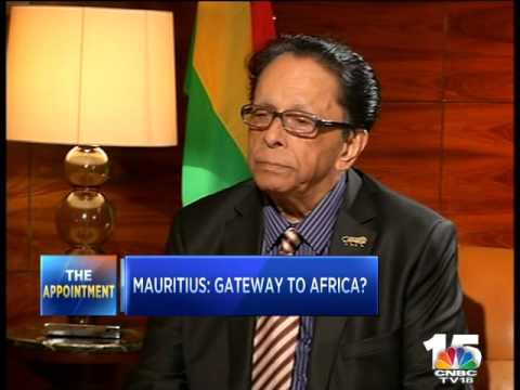 CNBC-TV18 SPEAKS EXCLUSIVELY TO MAURITIUS PM ANEROOD JUGNAUTH - 1