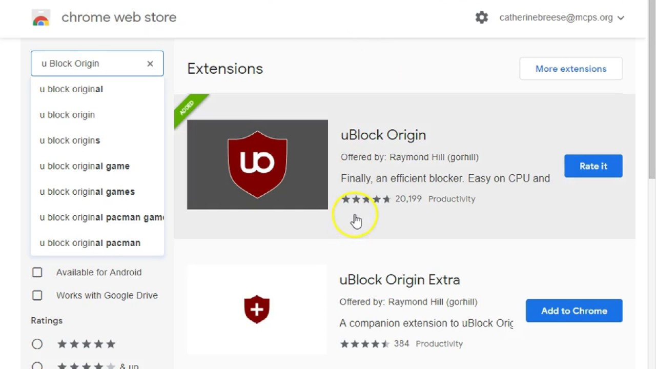 uBlock Origin for teachers