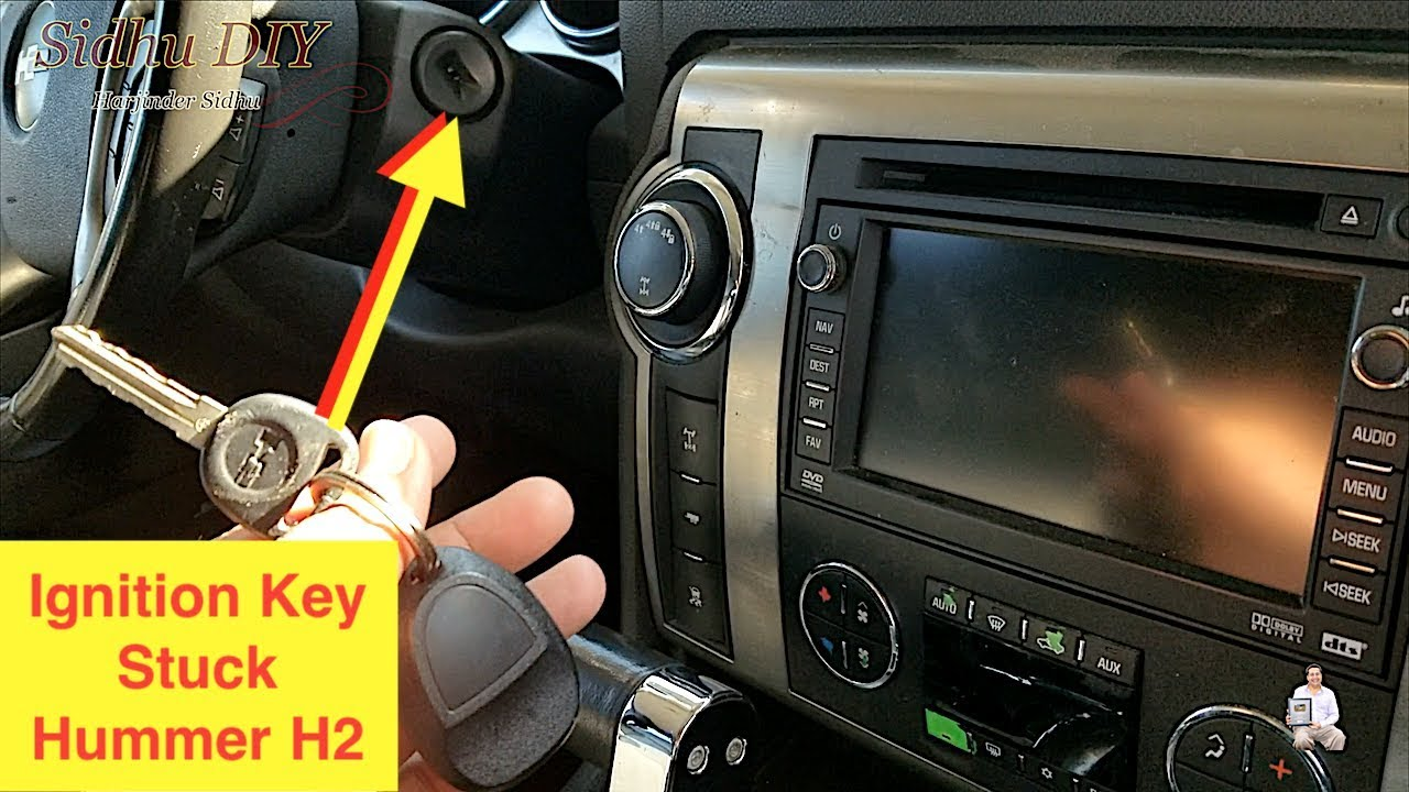 How To Remove Stuck Key From Ignition Hummer H2 Key Got Stuck In Ignition Youtube