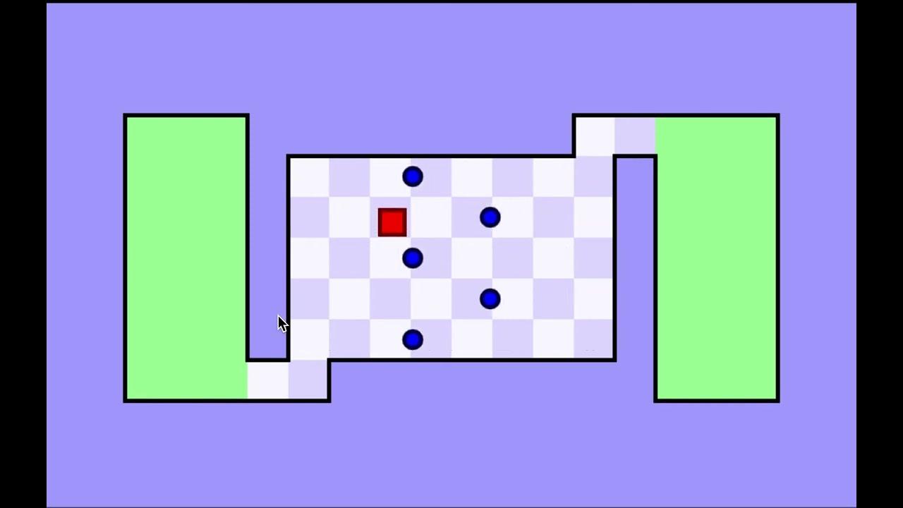 Worlds hardest game level 1 - YouTube