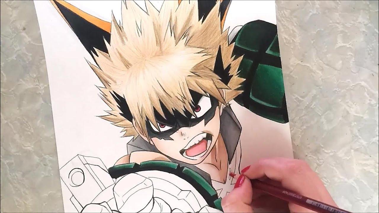 Katsuki Bakugou Speed Drawing My Hero Academia