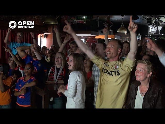 Feyenoord kampioen - Optimisme dubbel en dwars beloond in Café 't Haantje