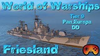 Friesland angespielt T9 DD Pan-Europa in World of Warships auf Deutsch/German