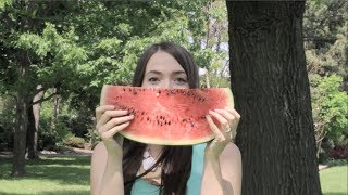 FACE BEHIND THE NAILS + Watermelon Nail Art!