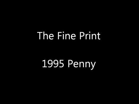 The Fine Print - 1995 Penny