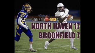 North Haven football beat Brookfield 17-7