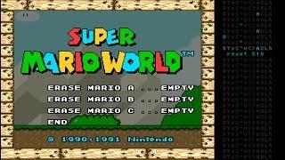 """[TAS] SMW """"sram game end glitch"""" in 00:11.13 by Masterjun"""