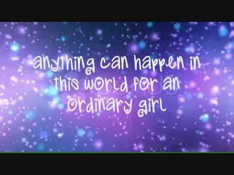 Hannah Montana - Ordinary Girl (Lyrics On Screen) HD - YouTube