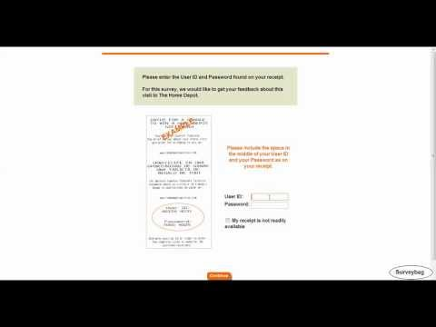 Www.homedepot.com/opinion The Home Depot Survey Video By Surveybag