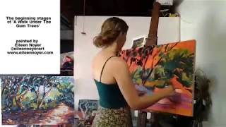 Eileen Noyer - Australian Contemporary Artist - Painting 'A Walk Under The Gum Trees'